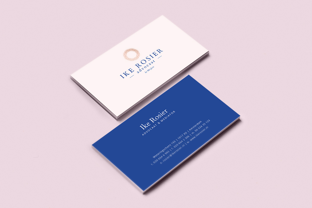 Feminine brand identity and website for lawyer