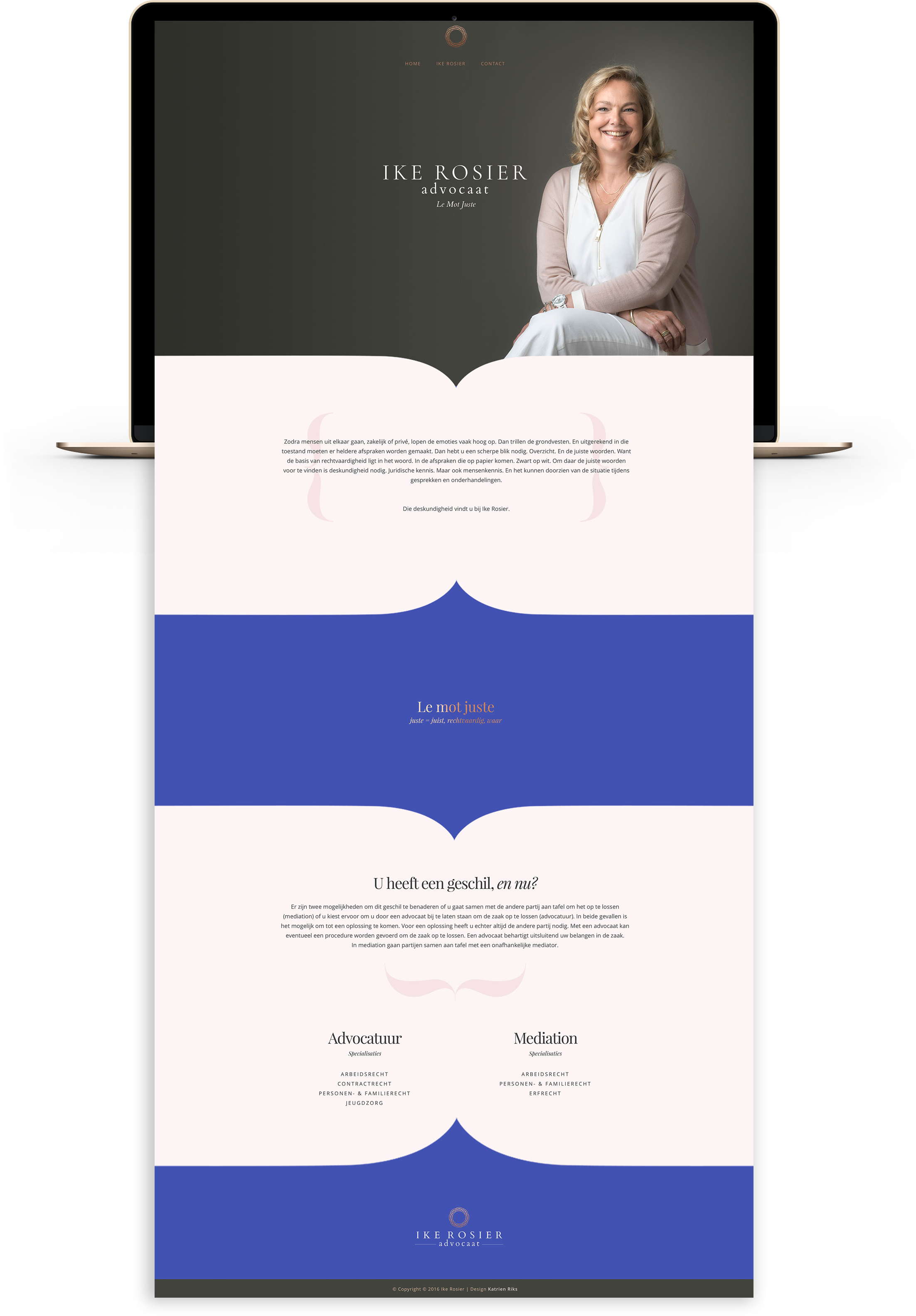 elegant brand identity and website for lawyer