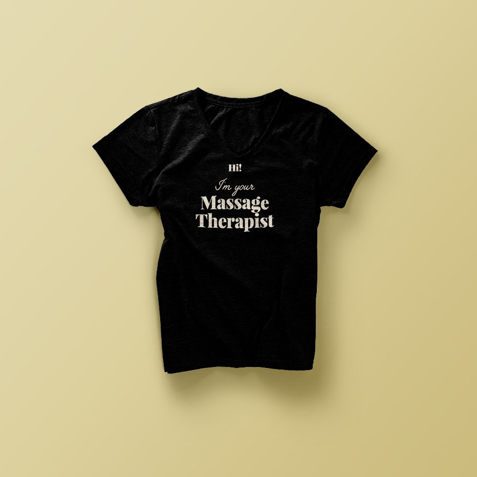 t shirt for massage therapist