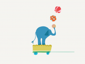Circus illustration for toyshop website