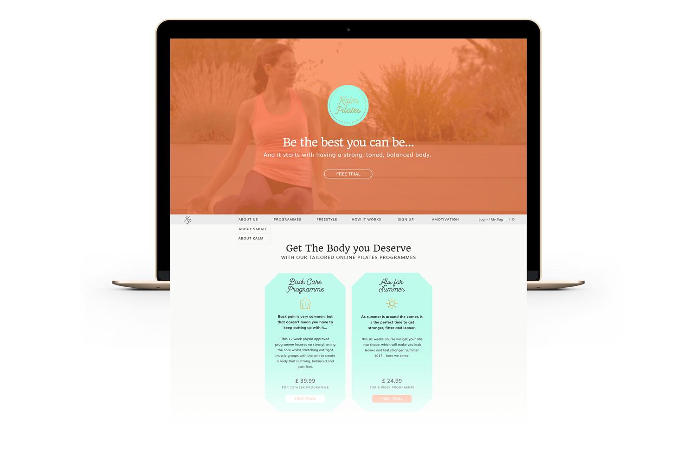 Branding & Website Design for online Pilates School