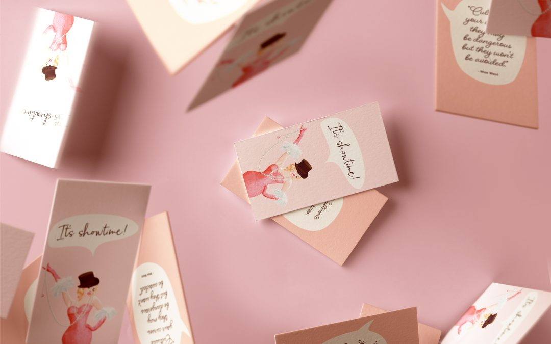 Pretty business cards that make an impression byKatrien