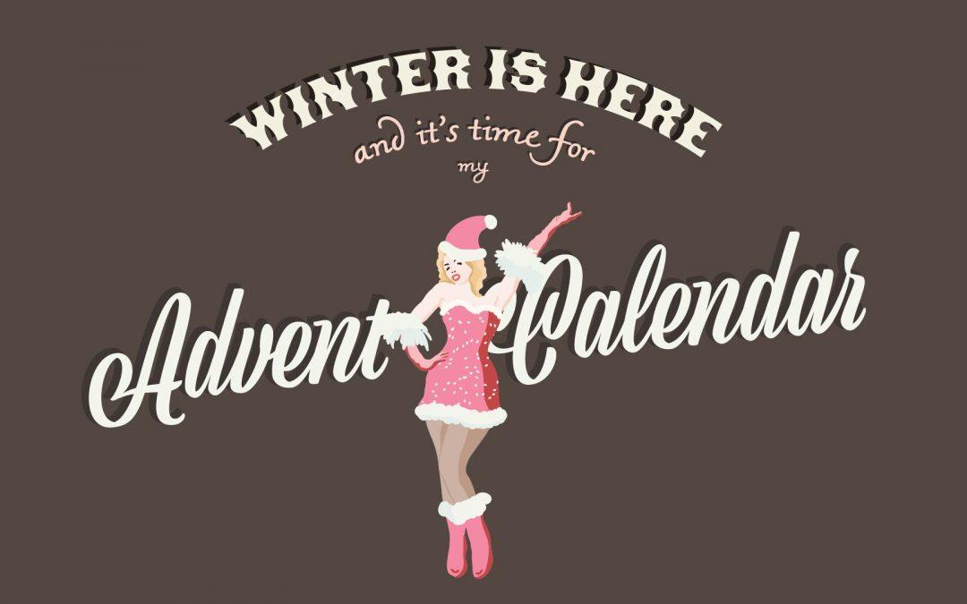 advent calendar old vintage movie style