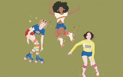 80s Rollerskating illustrations