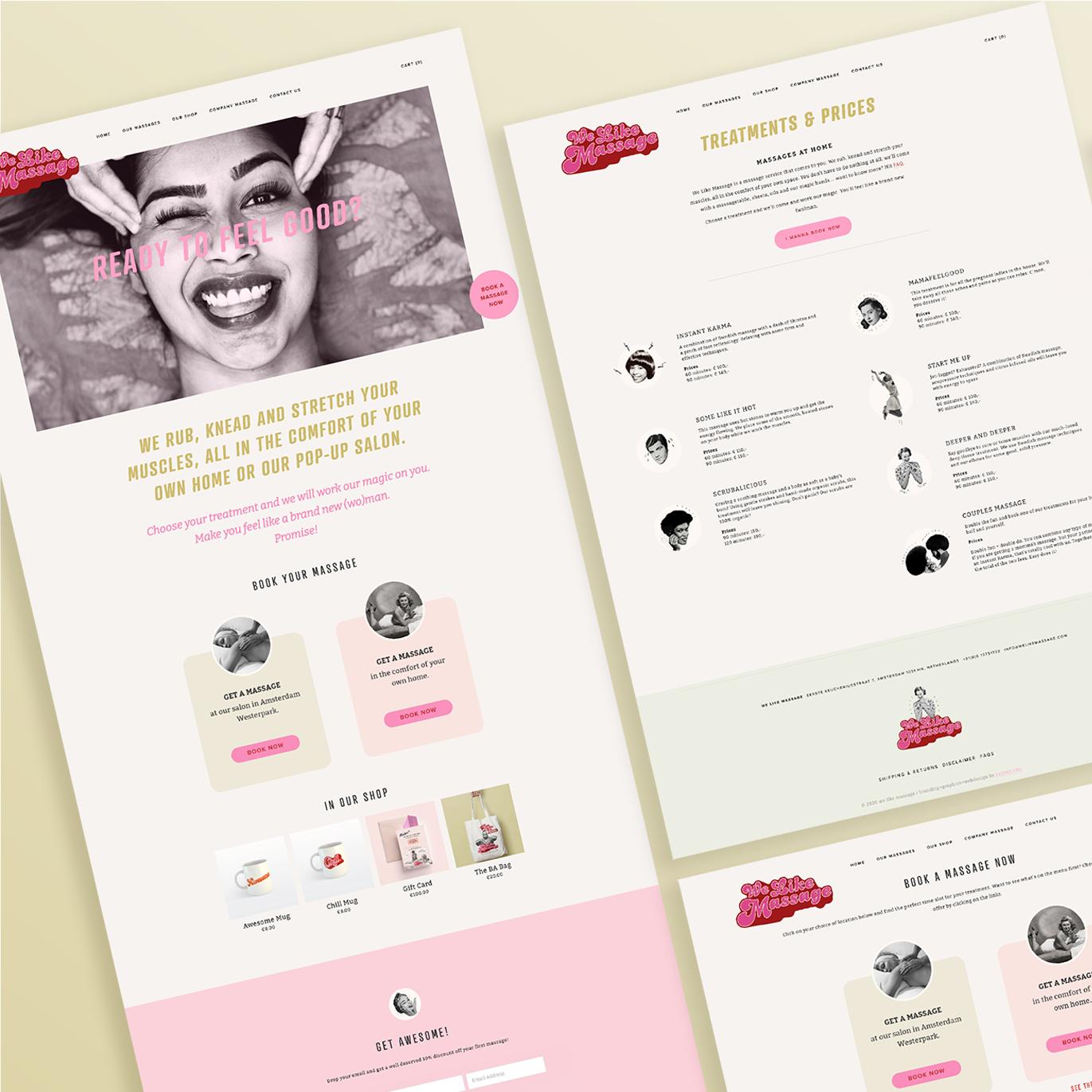 Massage Company giftcard design byKatrien